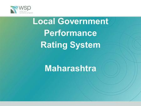 Local Government Performance Rating System Maharashtra.