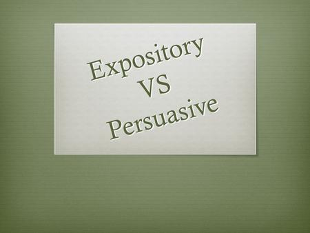 What are the differences and similarities between expository and narrative writing?