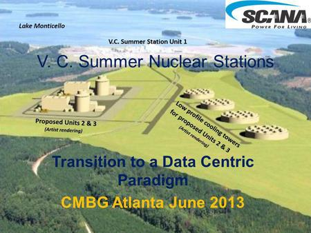 V. C. Summer Nuclear Stations Transition to a Data Centric Paradigm CMBG Atlanta June 2013.