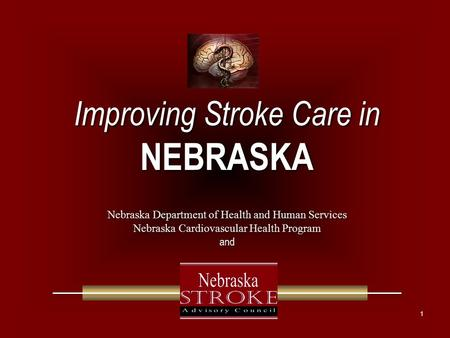 1 Improving Stroke Care in NEBRASKA Improving Stroke Care in NEBRASKA Nebraska Department of Health and Human Services Nebraska Cardiovascular Health Program.