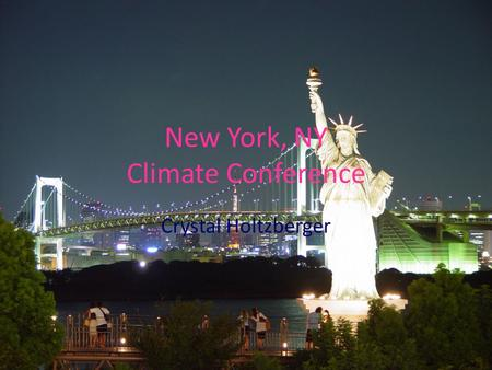 New York, NY Climate Conference Crystal Holtzberger.