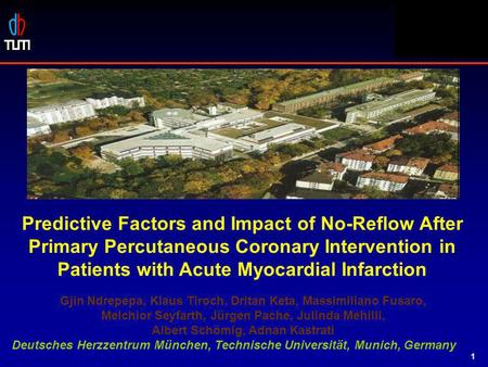 STOPAMI 1 & 2 Predictive Factors and Impact of No-Reflow After Primary Percutaneous Coronary Intervention in Patients with Acute Myocardial Infarction.