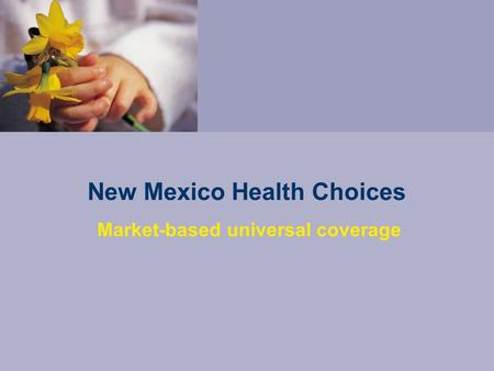 New Mexico Health Choices Market-based universal coverage.
