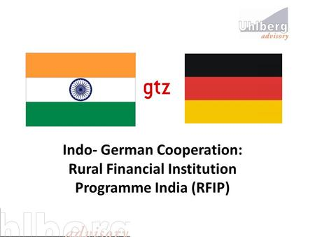 Indo- German Cooperation: Rural Financial Institution Programme India (RFIP)