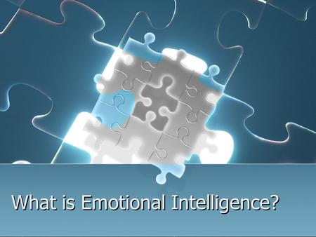 What is Emotional Intelligence?. Emotional intelligence is about managing our emotions intelligently. It is the ability to understand our own feelings.