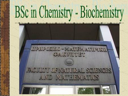 Biochemistry - an interdisciplinary scientific discipline whose very fast development is one of the characteristics of the 20th century and beginning.