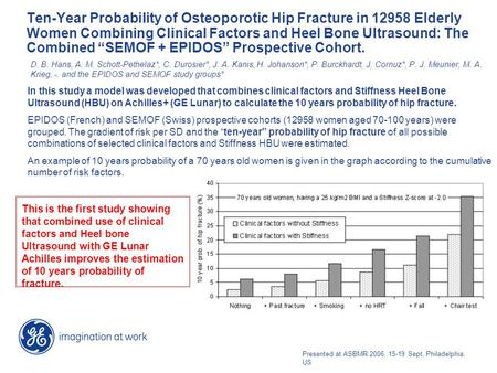 "Ten-Year Probability of Osteoporotic Hip Fracture in 12958 Elderly Women Combining Clinical Factors and Heel Bone Ultrasound: The Combined ""SEMOF + EPIDOS"""