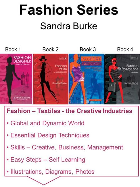 Book 1Book 2Book 3Book 4. Fashion Designer – Concept to Collection ISBN: 978-0-9582391-2-7 Sandra Burke Design and Production Process Appendices – pages.