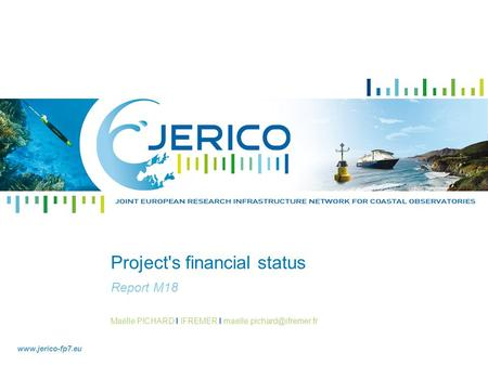 Maëlle PICHARD I IFREMER I  Project's financial status Report M18.