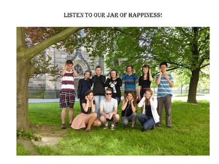 LISTEN TO Our jar of happiness!. Go ahead, try some!