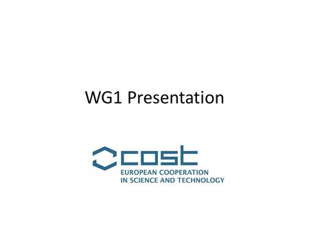 WG1 Presentation. WG1: Economic Geography modeling Leader: Pasquale Commendatore (Università di Napoli 'Federico II', Italy) Co-leader: SaimeSuna KAYAM.