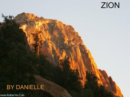 ZION BY DANIELLE History and B-day of Zion *January-22-1937 *Evidence of Ancestrial Puebloans, known as the Anasazi, from 2,000 years ago; Paiutes from.