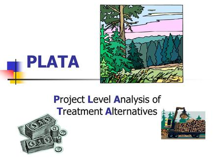 PLATA Project Level Analysis of Treatment Alternatives.