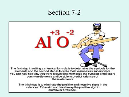 "Section 7-2. Oxidation Numbers ""Imagined charges"" assigned to atoms in covalent molecules In fact, they can be quite arbitrary."