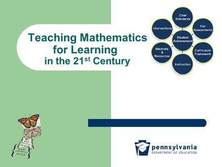 Teaching Mathematics for Learning in the 21 st Century.