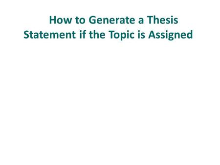Help coming up with a thesis statement for THE AWAKENING?
