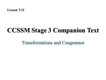 CCSSM Stage 3 Companion Text