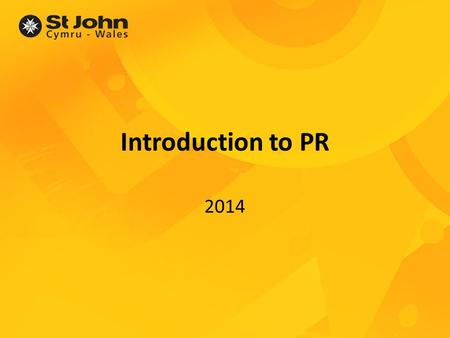Introduction to PR 2014. Introductions Your name Your PR experience An interesting fact about you....