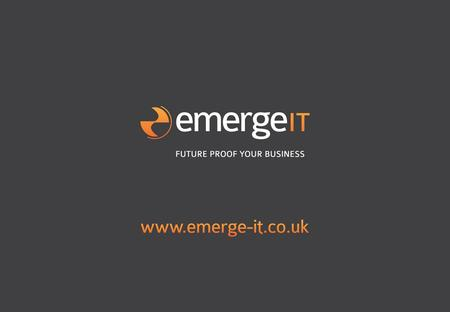 Emerge Priority User Conference – 18 th November 2011 08.30 – 09.30 Registration 09.30 – 09.45 Welcome address – Phil Nicholls & Meir Gabay 09.45 – 10.15.