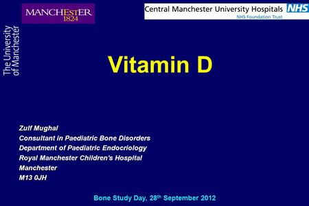 Bone Study Day, 28th September 2012