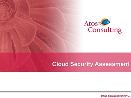 Cloud Security Assessment. 2 CoE IT Leadership.- Progress report Introduction »Cloud computing is an approach in which infrastructure and software resources.