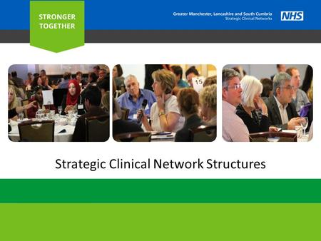 Strategic Clinical Network Structures. O UR STRUCTURE 2 Greater Manchester Area Team (Host Organisation) Greater Manchester Area Team (Host Organisation)