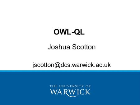Joshua Scotton OWL-QL.
