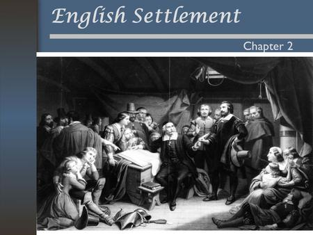 English Settlement Chapter 2. Background to English Colonization Population transfer No centralized Empire Experience in Ireland –Gave them model for.