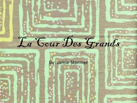 La Cour Des Grands By: Jamie Stormer. Mission Statement To bring Rodeo Drive fashion to the Midwest.