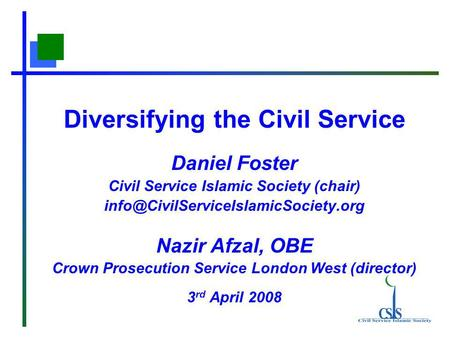 Diversifying the Civil Service