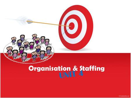 Organisation & Staffing UNIT 4. MEANING WHAT ARE WE DOING?? Is our objective the same?? Are we a group of people working together for the same objective??