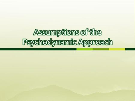 Psychodynamic Approach in Psychology  Definition  amp  Explanation     Prezi