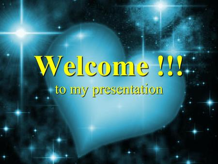 Welcome !!! to my presentation. My Bio-data NNNName : BBBBirthday : AAAAge : GGGGender : Harvey Karl M. Saura October 16, 1997 13 yrs.
