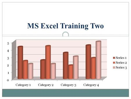 MS Excel Training Two.