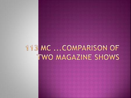 Compare two magazine