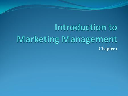 Chapter 1. Marketing function Four P's in marketing Different concepts in marketing Production concept Product concept Selling concept Marketing concept.