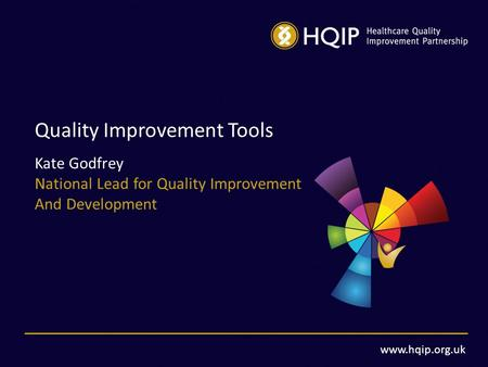 Www.hqip.org.uk Quality Improvement Tools Kate Godfrey National Lead for Quality Improvement And Development.