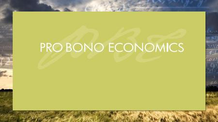 2 © Pro Bono Economics  PBE acts as a broker, matching professional economists with charities;  providing pro bono help to measure performance and understand.