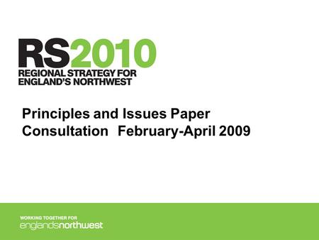 Principles and Issues Paper ConsultationFebruary-April 2009.