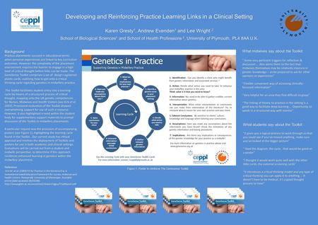 Developing and Reinforcing Practice Learning Links in a Clinical Setting Karen Gresty 1, Andrew Evenden 1 and Lee Wright 2 School of Biological Sciences.