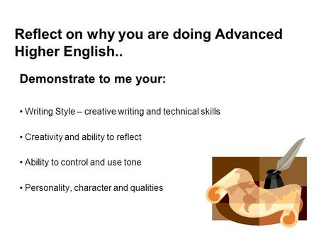 advanced higher english reflective essays