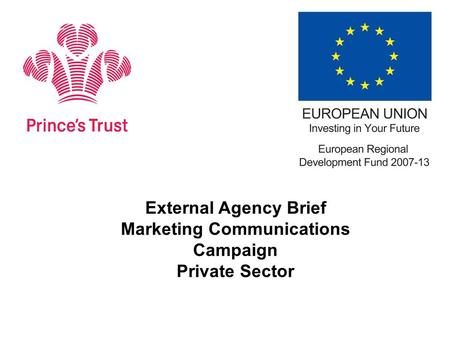 External Agency Brief Marketing Communications Campaign Private Sector.