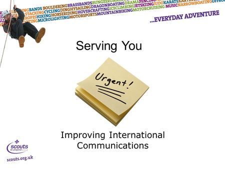 Improving International Communications Serving You.