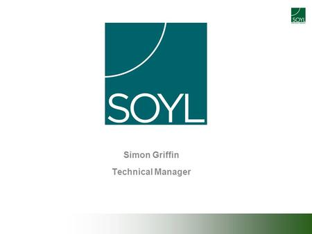 Simon Griffin Technical Manager. Est 1993 60 employees 3000 Customers 1m ha + under PF management.