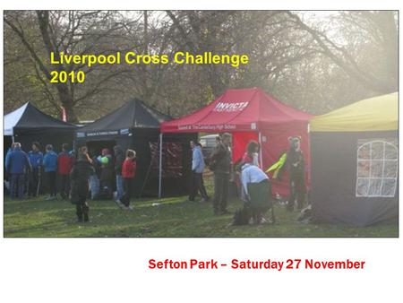Sefton Park – Saturday 27 November Liverpool Cross Challenge 2010.