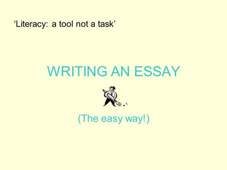 support sentences the essay has support paragraphs while the writing an essay the easy way literacy a tool not a