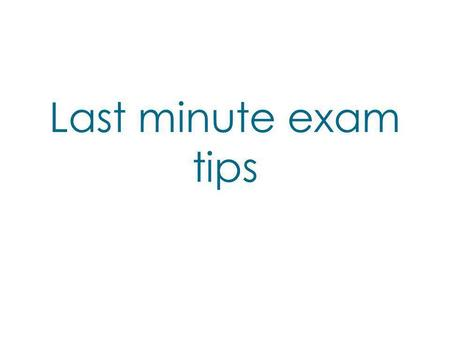 Last minute exam tips. Timings Section A (talk) carries more marks than section B (The Lovely Bones) You're advised to spend 50 minutes on section A and.