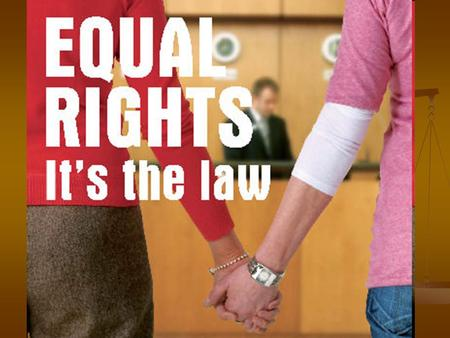 The Equality Act 2010 replaces the previous set of many different anti- discrimination laws, with a single piece of legislation. It covers Scotland,