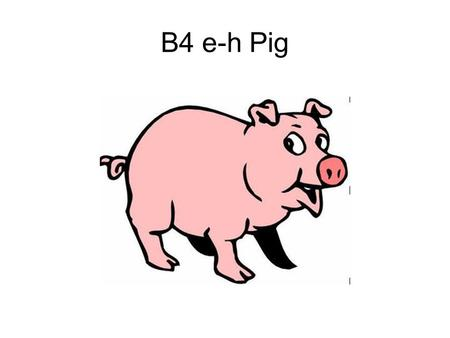 B4 e-h Pig. What's wrong with this food chain? Arrows pointing wrong way.