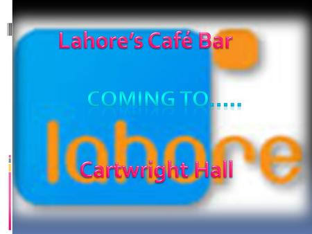 Lahore Café Bar coming to Cartwright hall will allow people to have food within the park and enjoy themselves. Coming to Lahore Café Bar will mean that.